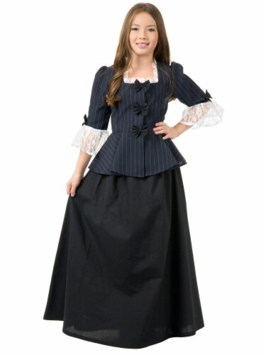 Seasons Colonial Girl Small 6-8 Costume Perspective: front