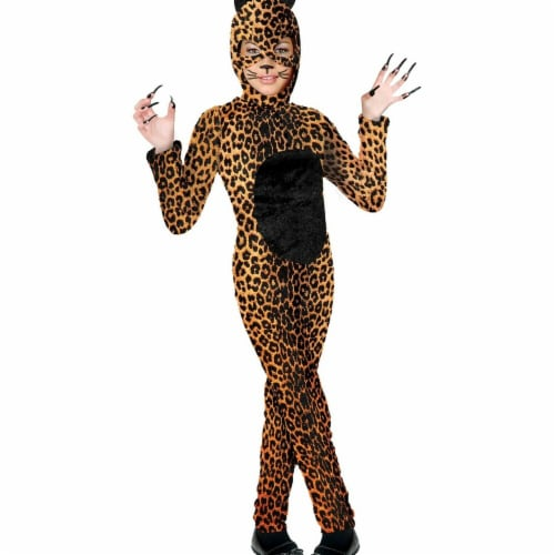 Charades Costumes 276717 Halloween Girls Cheetah Cat Girl Costume - Extra Large Perspective: front