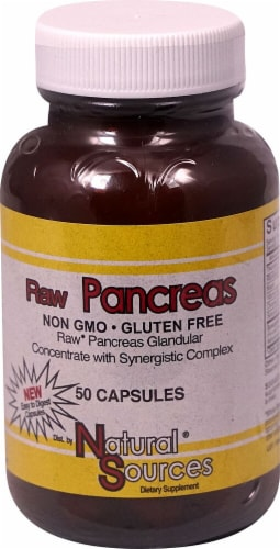Natural Sources  Raw Pancreas Perspective: front