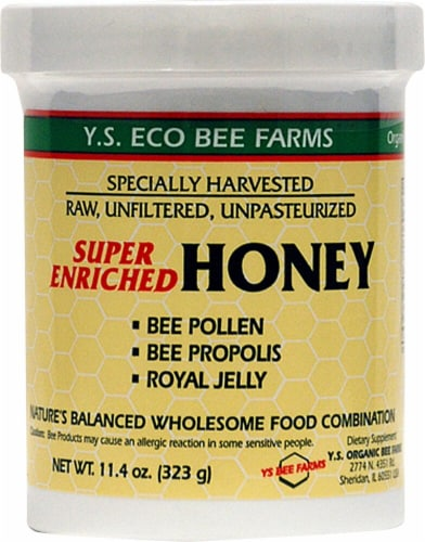 YS Eco Bee Farms Super Enriched Honey Perspective: front