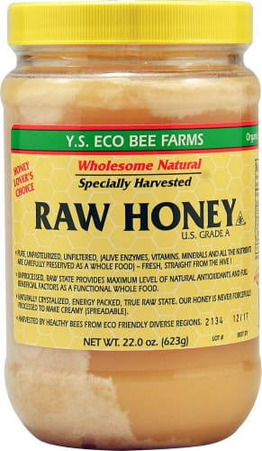 YS Eco Bee Farms  Raw Honey Perspective: front