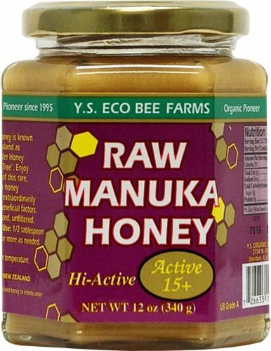 YS Eco Bee Farms Raw Manuka Honey Perspective: front