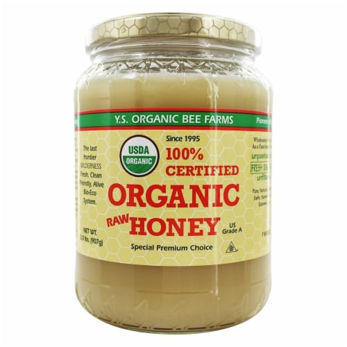 YS Eco Bee Farms 100% Organic Raw Honey Perspective: front