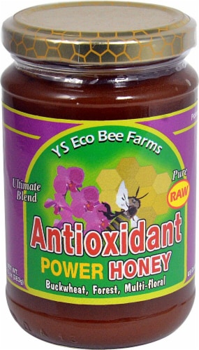 YS Eco Bee Farms  Antioxidant Power Honey Perspective: front