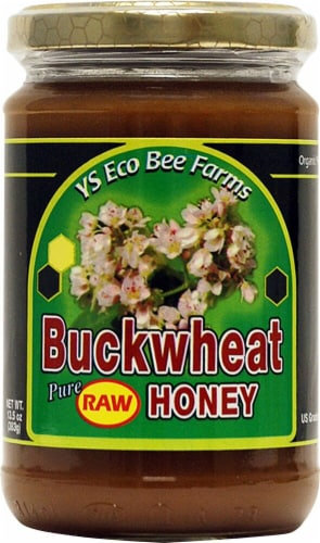 YS Eco Bee Farms  Buckwheat Pure Raw Honey Perspective: front