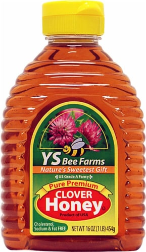YS Eco Bee Farms  Pure Premium Clover Honey Perspective: front