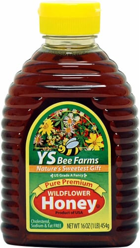 YS Eco Bee Farms  Pure Premium Wildflower Honey Perspective: front