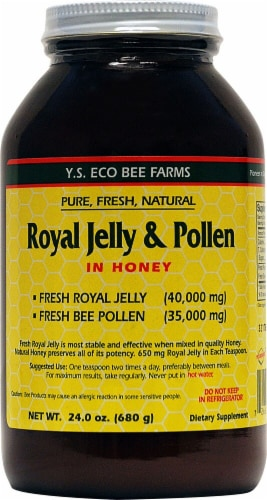 YS Eco Bee Farms  Royal Jelly Plus Bee Pollen Perspective: front
