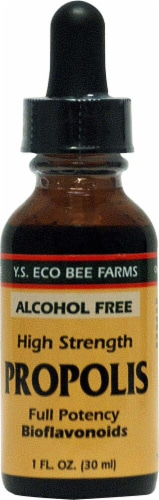 YS Eco Bee Farms  Propolis Full Potency Bioflavonoids Alcohol-Free Perspective: front