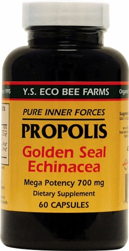 YS Eco Bee Farms  Propolis Goldenseal and Echinaea Perspective: front