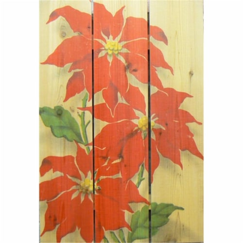 Day Dream HQ RP2836 28 x 36 in. Red Pointesttia Inside & Outside Cedar Wall Art Perspective: front