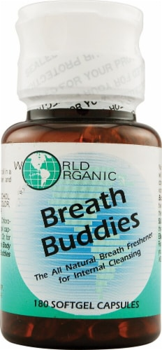 World Organic Breath Buddies Softgels Perspective: front