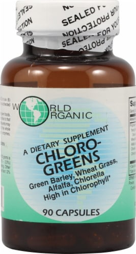 World Organic  Chloro Greens Perspective: front