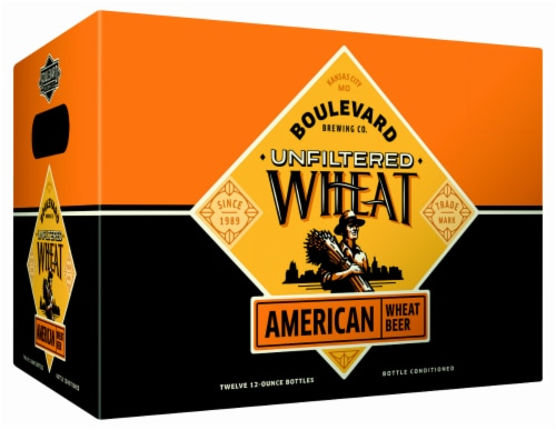 Boulevard Brewing Co. Unfiltered Wheat American Beer Perspective: front