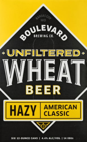 Boulevard Brewing Co. Unfiltered Hazy Wheat Beer Perspective: front