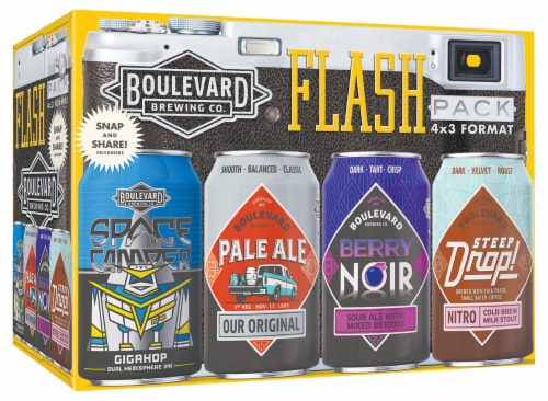 Boulevard Brewing Co. Flash Pack 4 x 3 Format Perspective: front