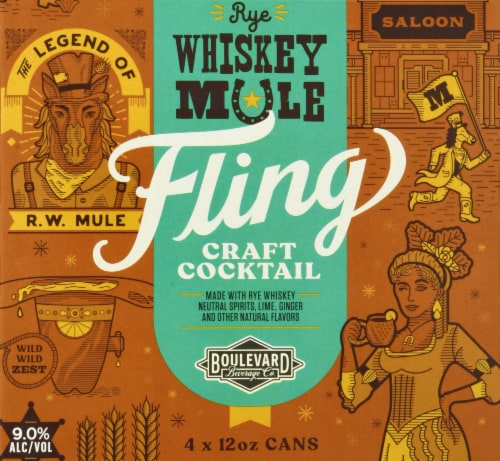 Boulevard Brewing Co. Rye Whiskey Mule Fling Craft Cocktail Perspective: front