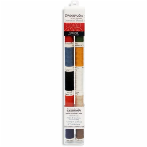 Crossroads Sulky Cotton Petites 12 Weight 10/Pkg-Central Collection Perspective: front