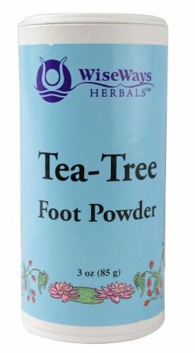 WiseWays Herbals  Tea Tree Foot Powder Perspective: front