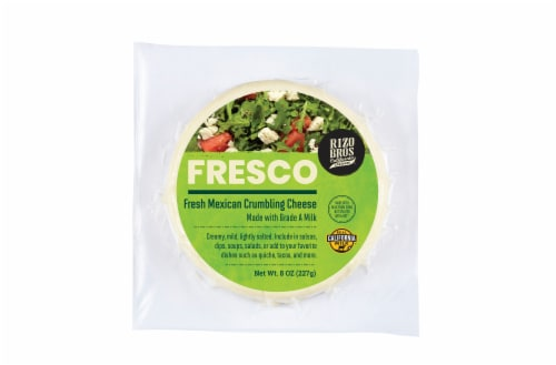 Rizo Bros Fresco Fresh Mexican Crumbling Cheese Perspective: front