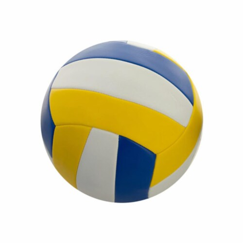 Kole Imports OT498-4 8.5 in. Yellow & Blue Volleyball, Size 5 - Pack of 4 Perspective: front