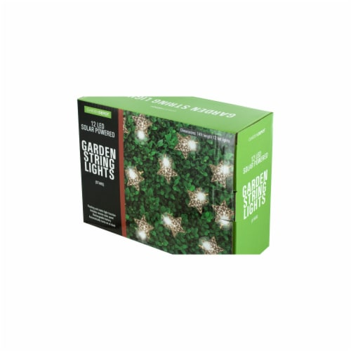 Bulk Buys OF866-4 Silver Star LED Solar String Lights - 4 Piece -Pack of 4 Perspective: front