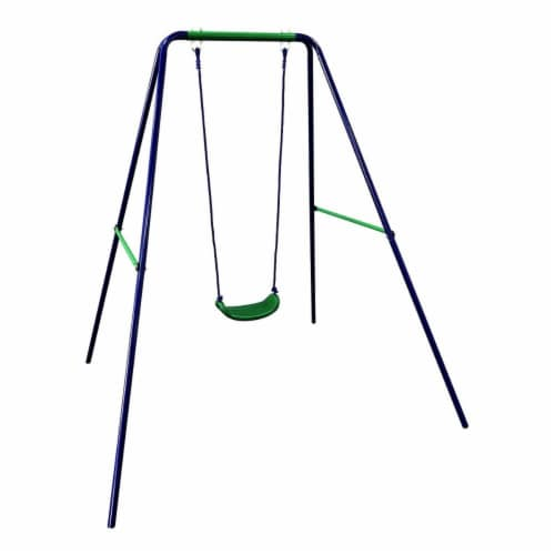 Child Toddler Swing Sturdy Outdoor Swing Seat, Blue Perspective: front