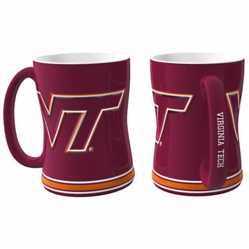 Virginia Tech Hokies Coffee Mug - 14oz Sculpted Relief Perspective: front