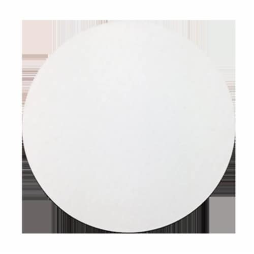 12 in. White Top Corr Circle Case Of 250 Perspective: front