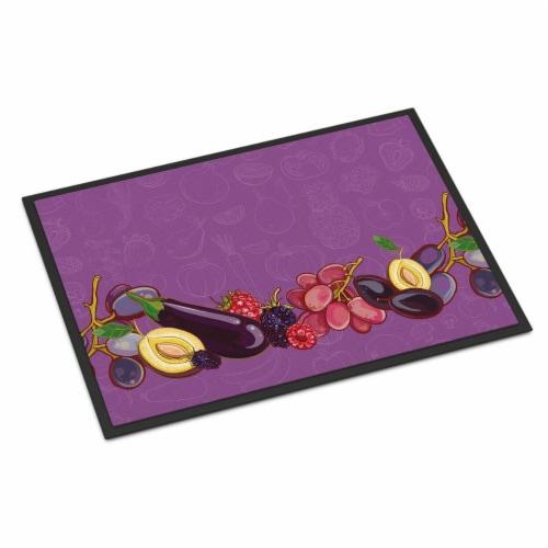 Fruits & Vegetables in Purple Indoor or Outdoor Mat, 24 x 36 in. Perspective: front