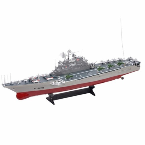 30 in. HT-2878 Large Warship Challenger Boat Toy with Two Very Fast Motor Perspective: front