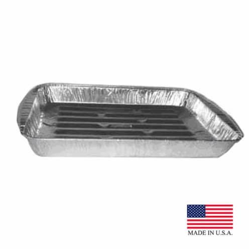 Aluminum Standard Broiler Pan, Pack of 200 Perspective: front