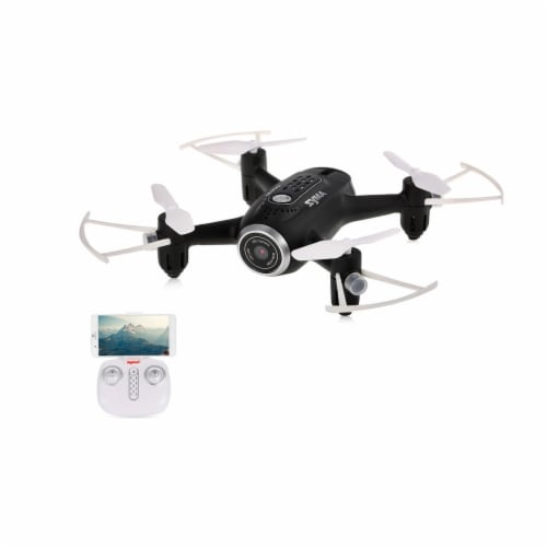 Syma X22W Wifi FPV Pocket Drone HD Camera Headless Mode, Black Perspective: front