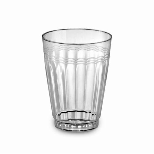 Clear 12 oz Extra Heavy Tumbler Perspective: front