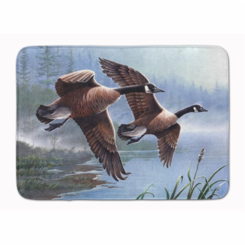 Geese on the Wing Machine Washable Memory Foam Mat Perspective: front