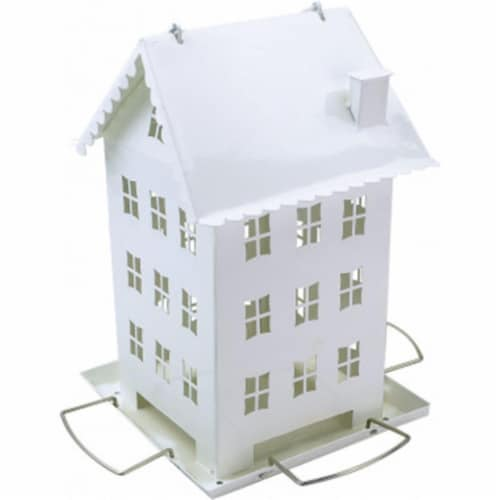 2.8 lbs Perky Farmhouse Feeder, White Perspective: front