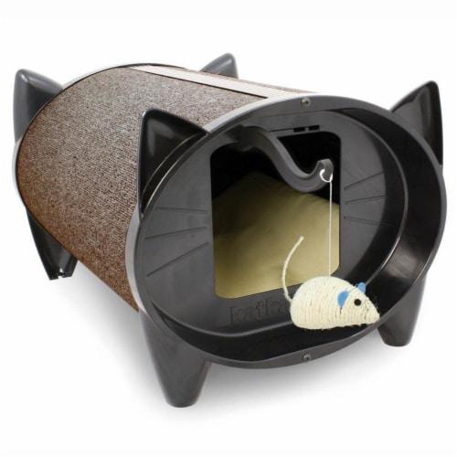 Indoor Cat House Cat Scratcher, Cocoa Perspective: front