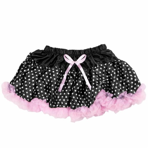 Black Polka Dot Costume Tutu Perspective: front