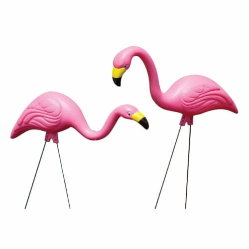 25 in. Statue Flamingo - Pink, Pack of 12 Perspective: front