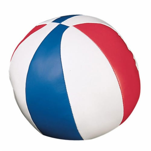 7 in. Soft Sport Basketball, Red & White & Royal Perspective: front