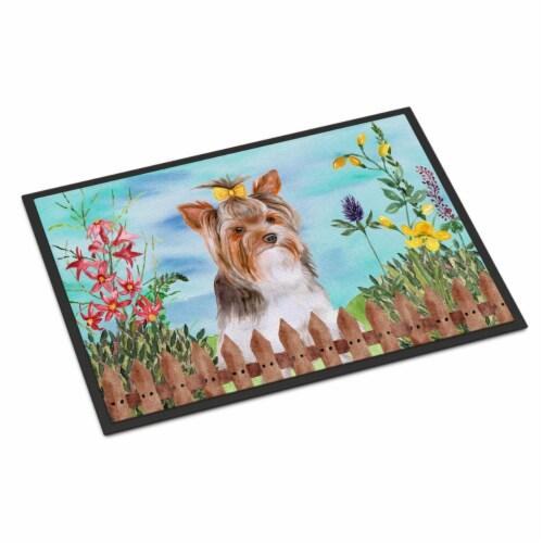 Yorkshire Terrier No 2 Spring Indoor or Outdoor Mat, 18 x 27 in. Perspective: front
