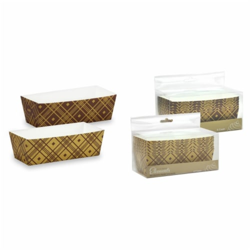 5.75''x2.5'' Rectangle Baking Pans -Plaid- Hanna K. Signature Elements 6ct packs, case of 12 Perspective: front
