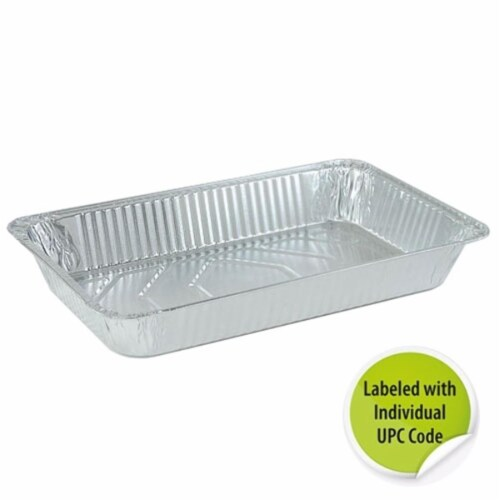 Aluminum Full Size Deep Pan - Individually Labeled with. Upc - Nicole Home Collection Case of Perspective: front