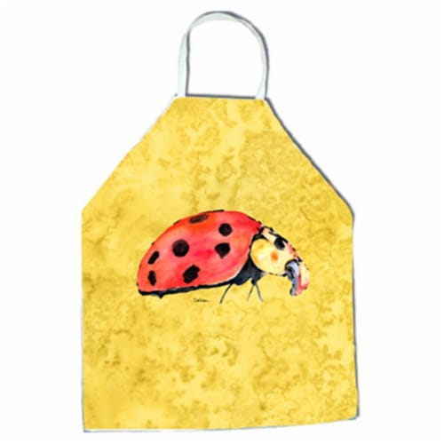27 H x 31 W in. Lady Bug on Yellow Apron Perspective: front
