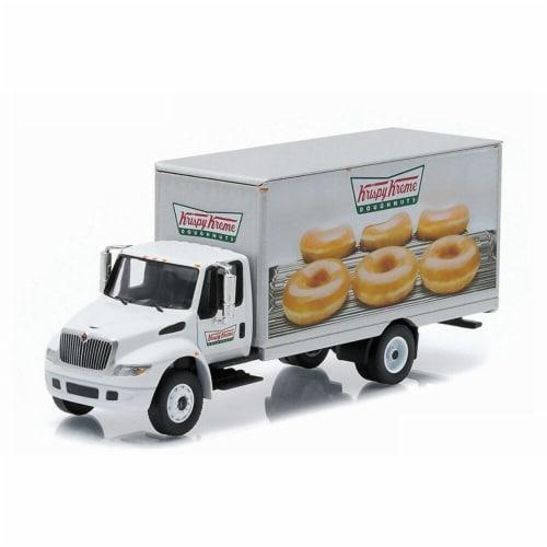 1 by 16 HD Truck International Durastar Box Van Krispy Kreme Delivery Truck, White Perspective: front