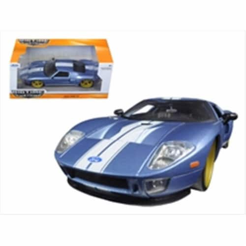 1 by 24 2005 Ford GT Diecast Model Car, Blue Perspective: front