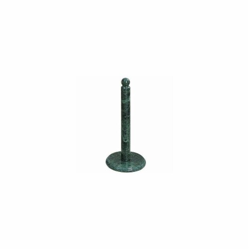 12.75 in. Green Marble Deluxe Paper Towel Holder Perspective: front