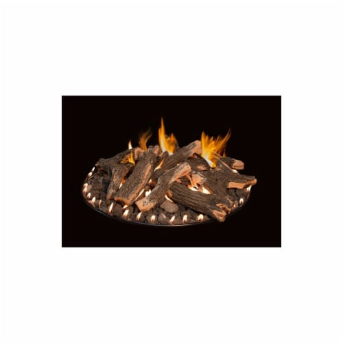 Round Flat Stack Complete Logs Fire Pit, 48 in. Perspective: front
