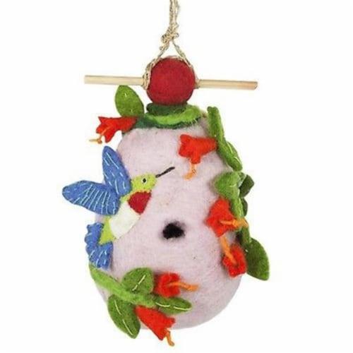 Felt Birdhouse - Hummingbird Perspective: front
