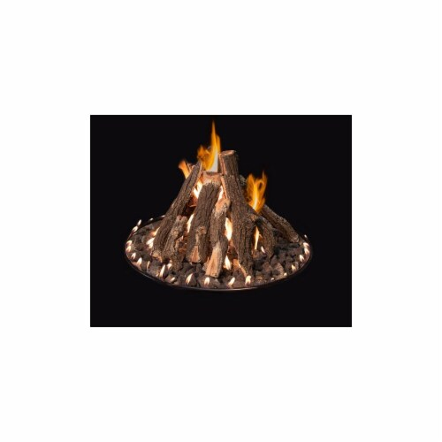 Round Tall Stack Complete Logs Fire Pit, 48 in. Perspective: front